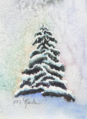 Painting - Tiny Snowy Tree by Marsha Karle