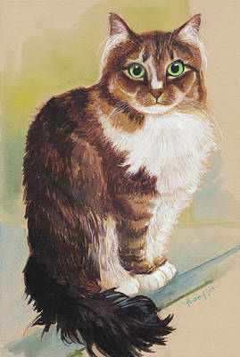 Tiny Tabby Print by Tracie Thompson