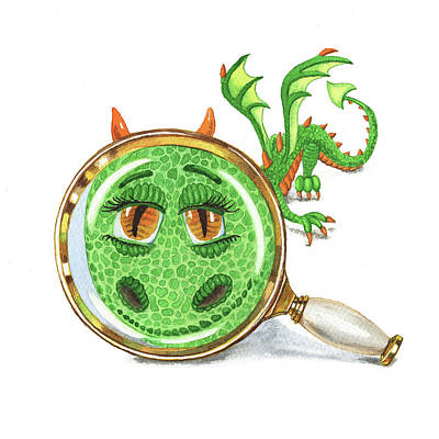 Fantasy Royalty-Free and Rights-Managed Images - Tiny Teeny Little Dragon by Irina Sztukowski