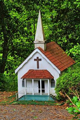 Photograph - Tiny Town Church by Kathryn Meyer