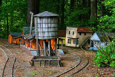 Photograph - Tiny Town Railway Station by Kathryn Meyer