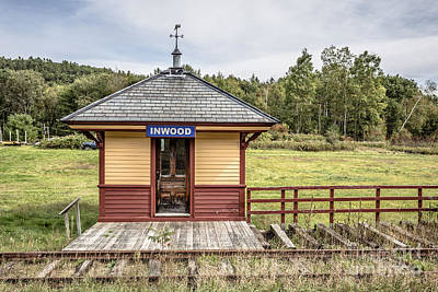 Photograph - Tiny Train Station Barnet Vermont by Edward Fielding
