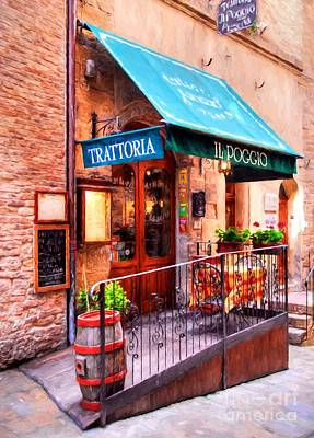 Photograph - Tiny Trattoria In Tuscany by Mel Steinhauer