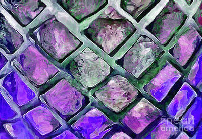 Abstract Glass Photograph - Tiny Windows by Krissy Katsimbras