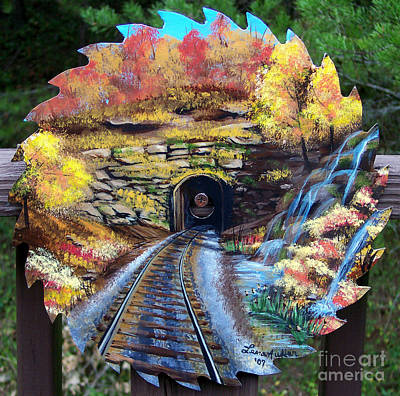 Painting - Tip Top Train Tunnel by Lena Auxier