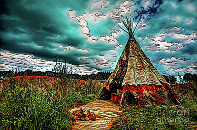 Photograph - Tipi 18118 by Ray Shrewsberry