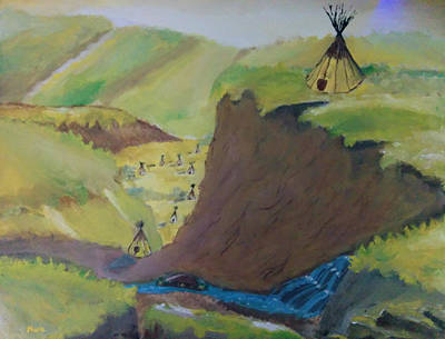 Tipi Village Art Print