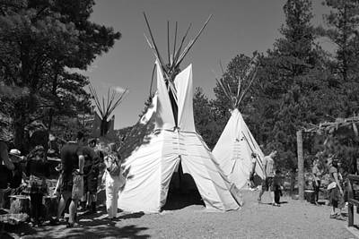 Tipis In Black Hills Art Print