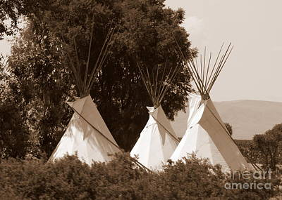 Tipis In Toppenish Art Print by Carol Groenen