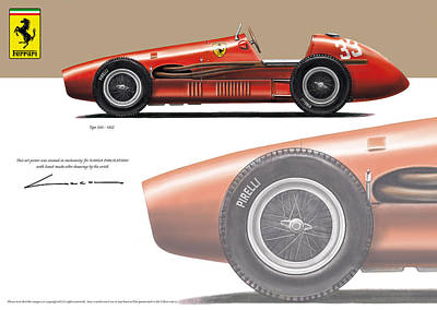 Tipo 500 1952 Art Print by Luc Cannoot