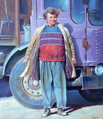 Art Print featuring the painting Tipperman 1970. by Mike Jeffries