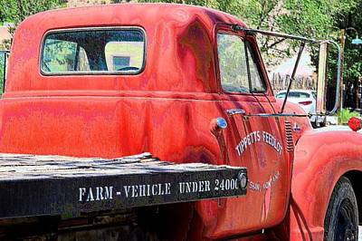 Photograph - Tippet's Feed Lot Truck by Jacqui Binford-Bell