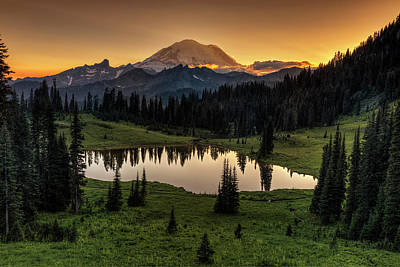 Photograph - Tipsoo And Rainier by Mark Kiver