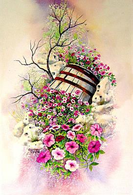 Tipsy Whiskey Barrel Art Print by Brooke Lyman