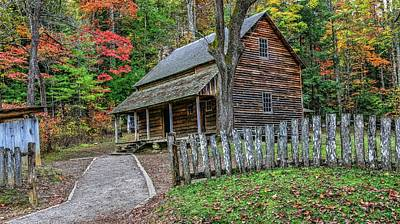 Log Cabin Photograph - Tipton Place by Carol R Montoya