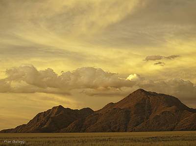 Photograph - Tiras Mountain Sunset by Fran Gallogly