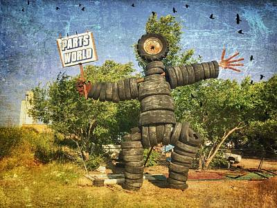 Photograph - Tire Man - Parts World by Debra Martz