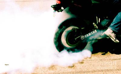 Digital Art - Tire Smoke by Steven Digman