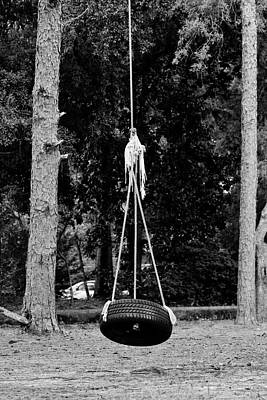 Tire Swing  Art Print by Cynthia Guinn