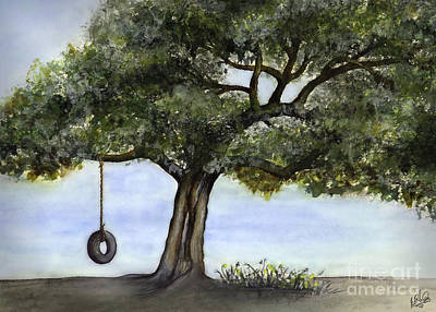 Tire Swing In Live Oak Art Print