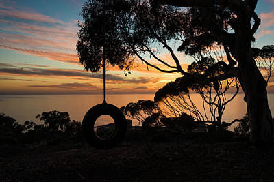 Photograph - Tire Swing Sunset by Scott Cunningham