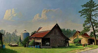 Old Barn Painting - Tired And Retired by Doug Strickland