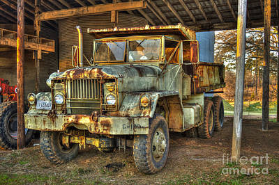 Photograph - Tired And Retired Us Army M930 Dump Truck by Reid Callaway