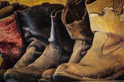 Tired Boots Art Print