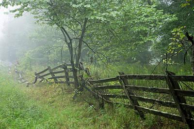 Photograph - Tired Fence In Fog by Douglas Barnett