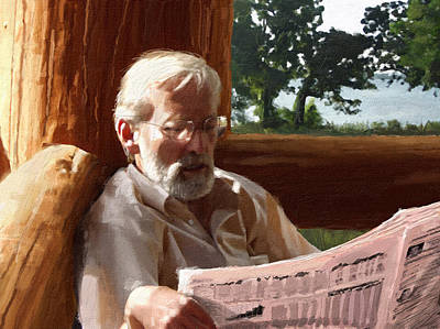 Old Man Digital Art - Tired Of Retirement by Cliff Hawley
