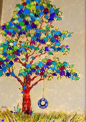 Painting - Tired Tree by Phiddy Webb