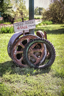 Photograph - Tires 4 Sale by Lynn Sprowl
