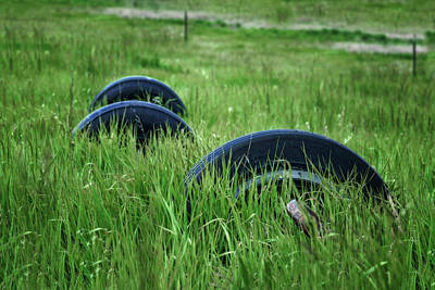 Photograph - Tires - Grassy Field by Nikolyn McDonald