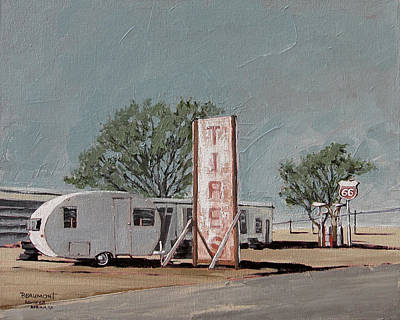 Back Road Painting - Tires by Steve Beaumont