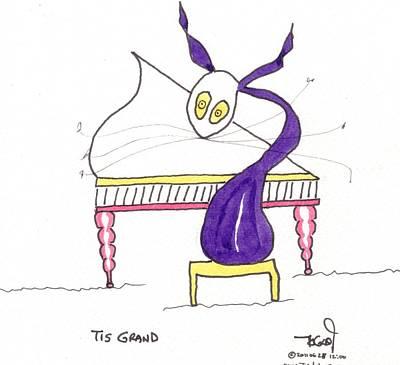 Peadar Drawing - Tis Grand by Tis Art