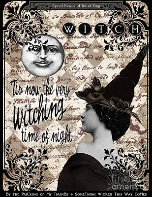 Newts Digital Art - Tis Now The Very Witching Time Of Night by Erika Moriarty