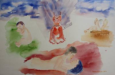 Painting - 'tis The Maaya That Makes The World Go Round by Geeta Biswas