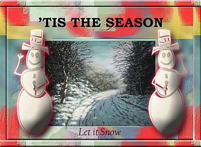 Painting - 'tis The Season - Let It Snow by Saeed Hojjati