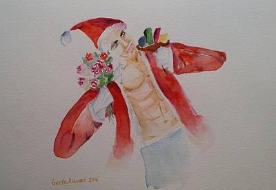 Painting - 'tis The Season Watercolor Art by Geeta Biswas
