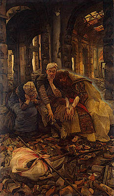 Digital Art - Tissot Inner Voices  Christ Consoling The Wanderers  by James Jacques Joseph Tissot