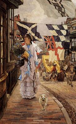 Digital Art - Tissot James Jacques A Fete Day At Brighton by James Jacques Joseph Tissot
