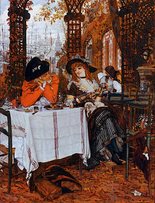 Digital Art - Tissot James Jacques A Luncheon by James Jacques Joseph Tissot