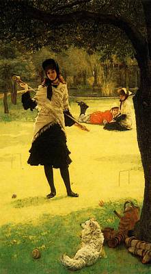 Digital Art - Tissot James Jacques Croquet by James Jacques Joseph Tissot