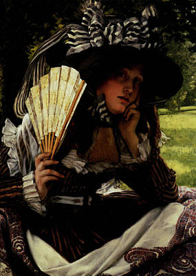 Tissot James Jacques Joseph Jeune Femme A L Eventail Art Print