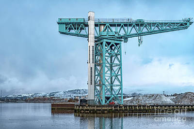Watercolor Alphabet Rights Managed Images - Titan Crane at Clydebank Royalty-Free Image by Antony McAulay