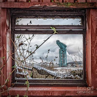 Photograph - Titan Crane Through The Ruin by Antony McAulay