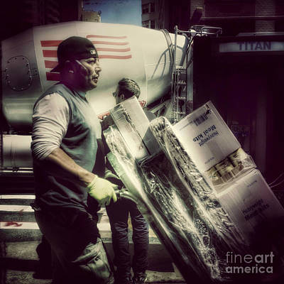 Photograph - Titan - Delivery Man by Miriam Danar