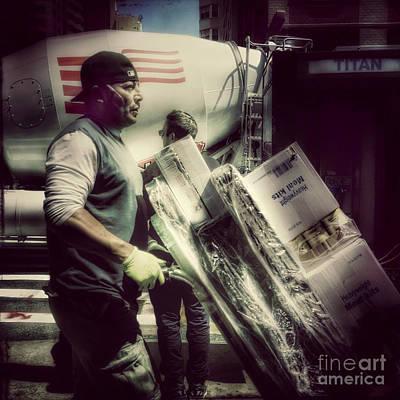 Photograph - Titan - Delivery Man by Miriam Danar