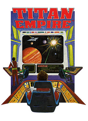 Video Game Painting - Titan Empire by John D Benson