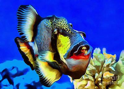 Titan Triggerfish Art Print